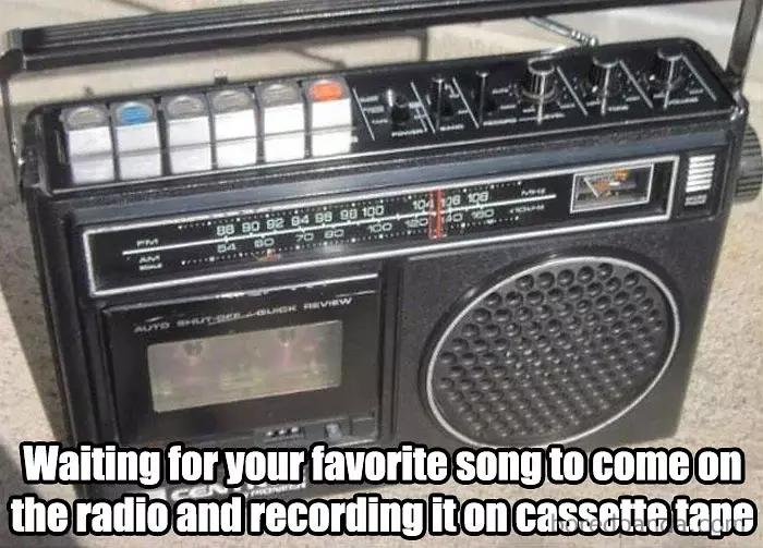 90s kids struggles music record cassette