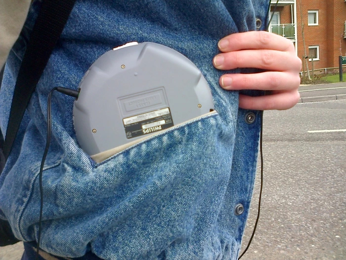 90s kids struggles portable music player