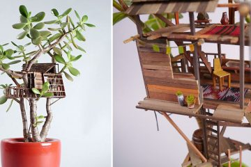 Miniature Tree Houses