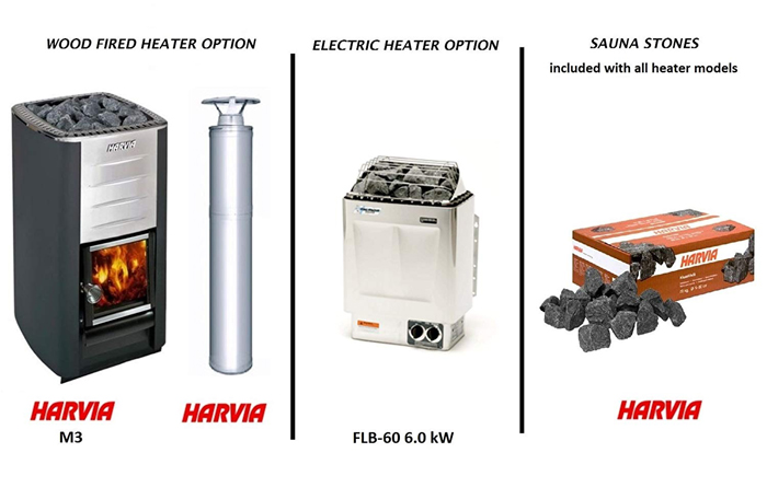 allwood diy 4-person sauna heater options