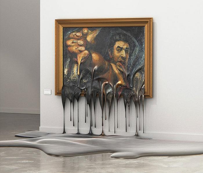 alper dostal melting paintings