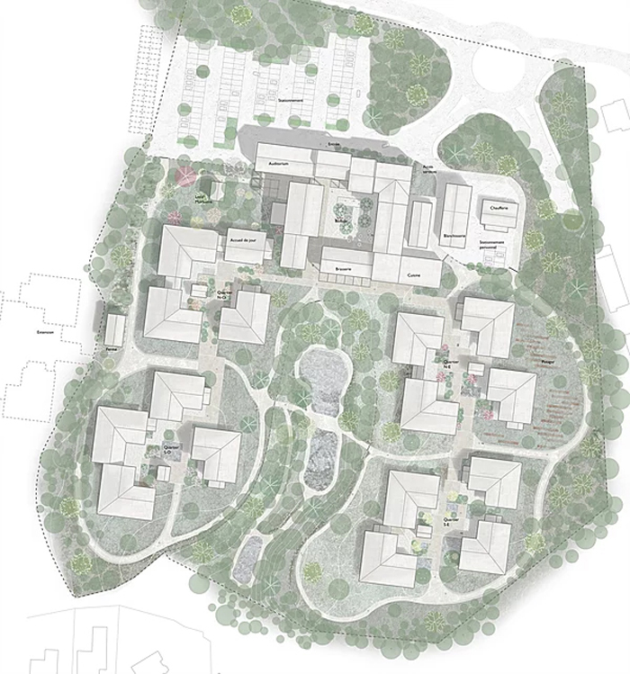 alzheimer's village aerial view design