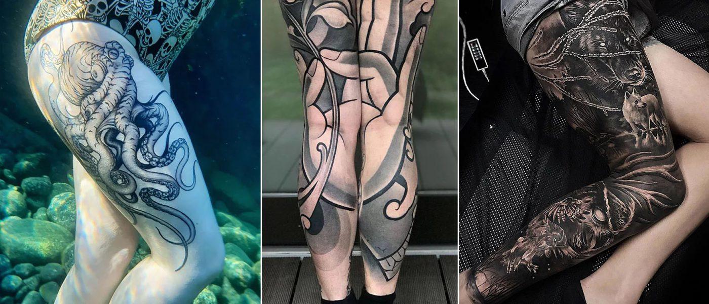 awesome leg tattoos