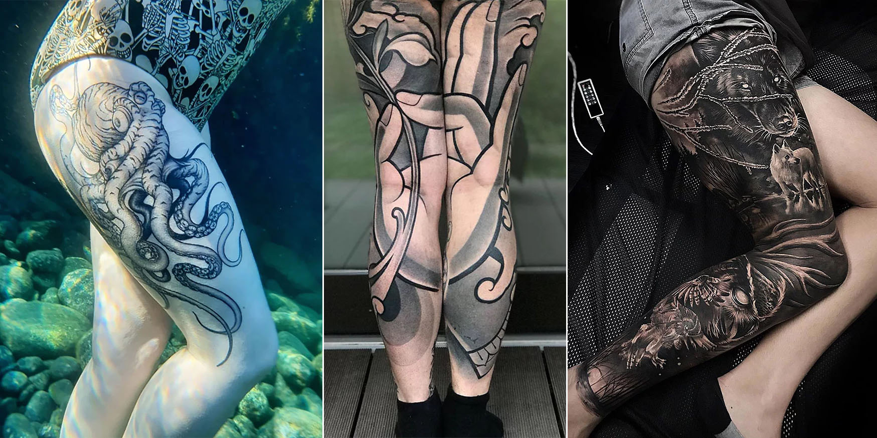45 People Showing Off Their Awesome Leg Tattoos