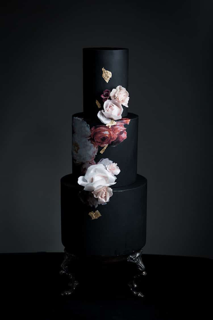 22 Dark Wedding Cakes That Add Some Gothic Inspired Flair