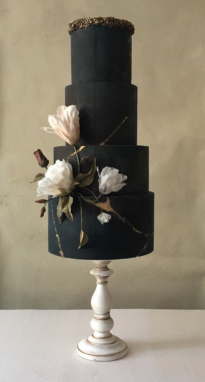 black wedding cakes jasmine rae