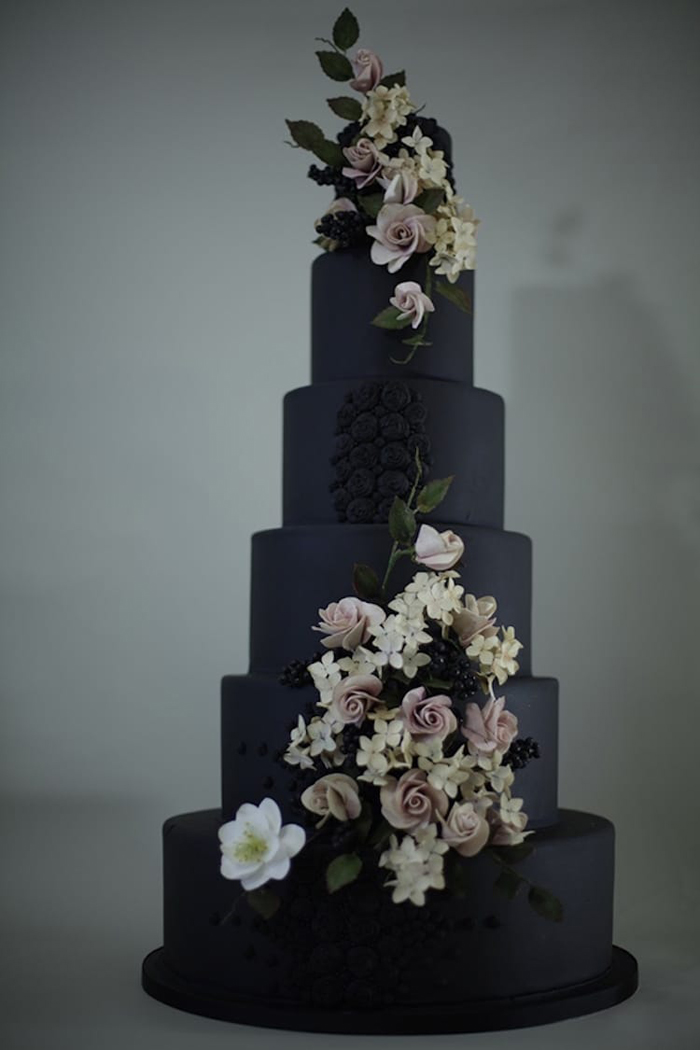 black wedding cakes victoria jones