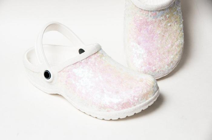 bridal crocs etsy