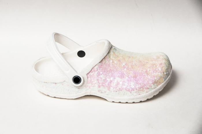 bridal crocs princess pumps