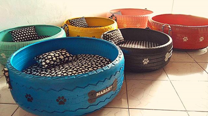 caominhas pets tire beds for stray cats and dogs