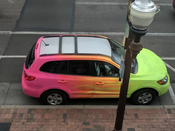 car painted highlighter