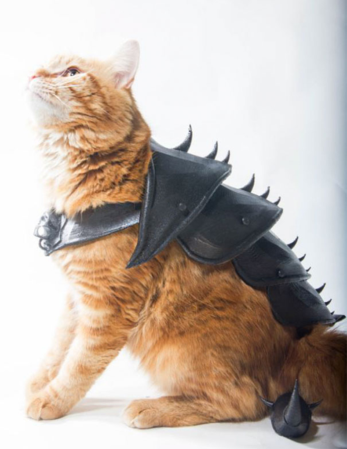 cat 3d printed armor