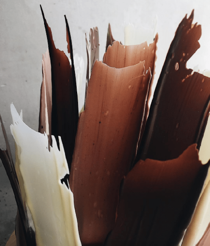 chocolate brushstrokes cake