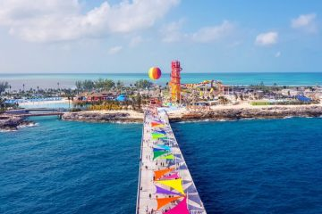 cococay water park arrival plaza