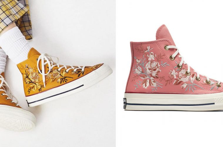 converse floral sneakers