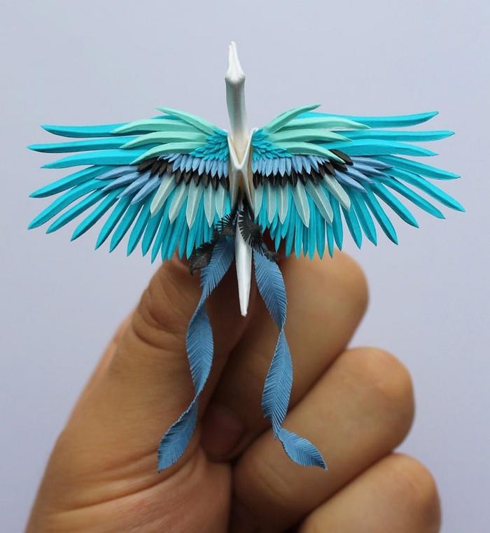 cristian marianciuc colorful origami cranes