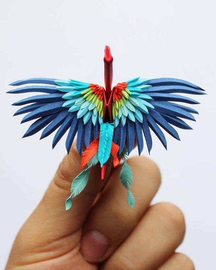 cristian marianciuc colorful paper cranes