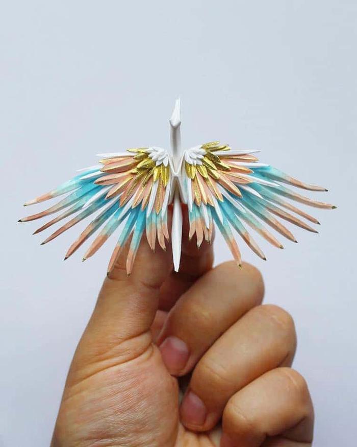 cristian marianciuc paper cranes pattern