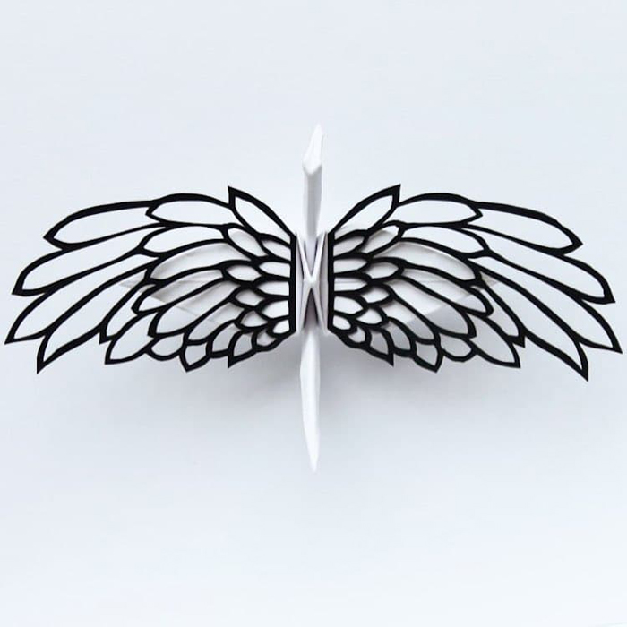 cristian marianciuc paper cranes wing cutout