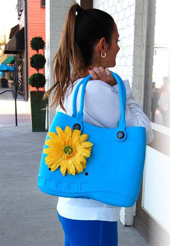 crocs-inspired handbags flower fobbz
