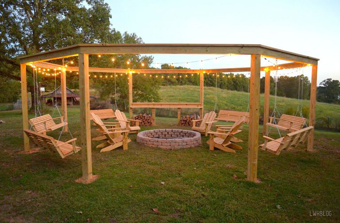 diy backyard pergola lauren ashworth