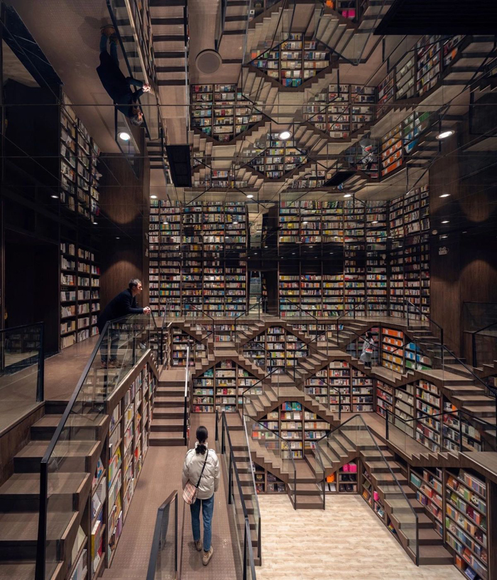 escher-inspired interior design bookstore china