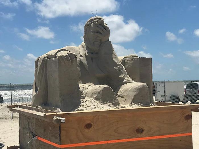 facepalming lincoln 2019 texas sandfest