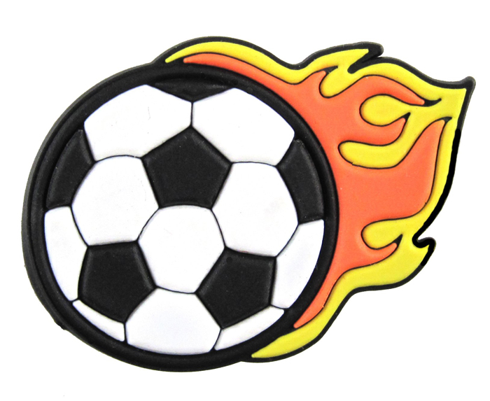 fobbz charms soccer flame ball