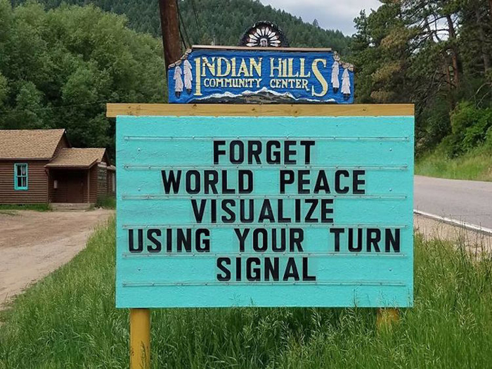 forget world peace funny road signs