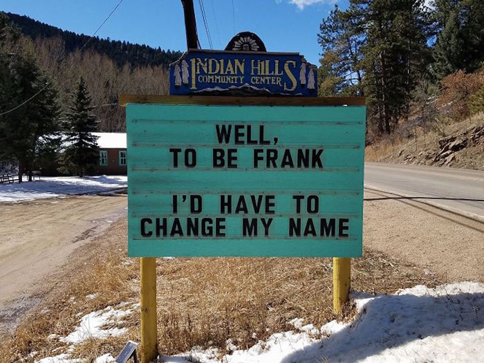 frank pun funny road signs