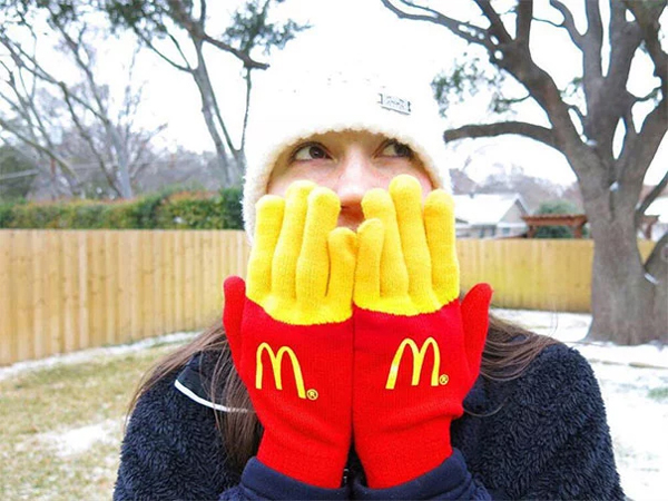 french fries gloves