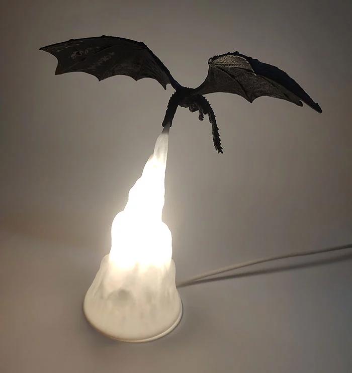 got-inspired dragon lamp