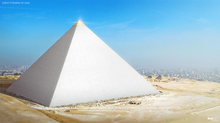 great pyramid of giza reconstructed seven wonders of the ancient world
