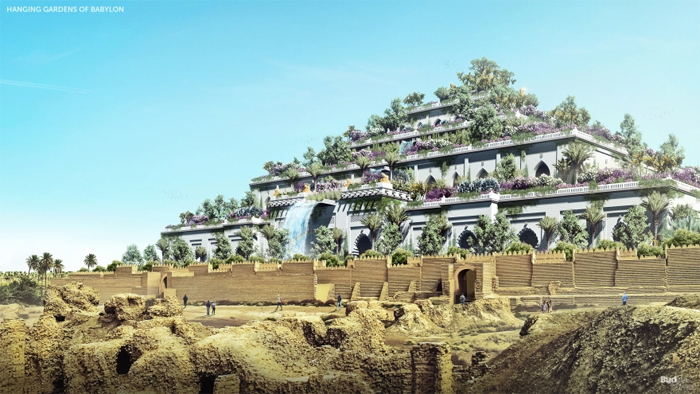 hanging gardens of babylon reconstructed