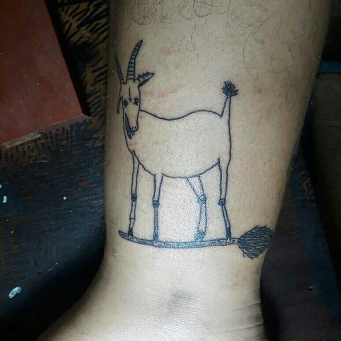 helena fernandes hideous tattoos goat