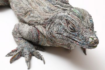 hitotsuyama studio newspaper animal sculptures