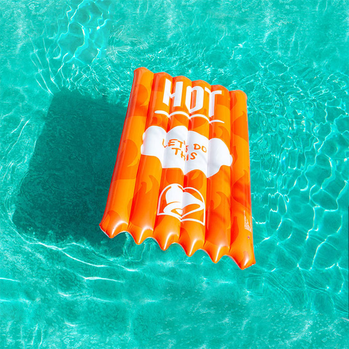 hot sauce packet pool float taco bell summer collection