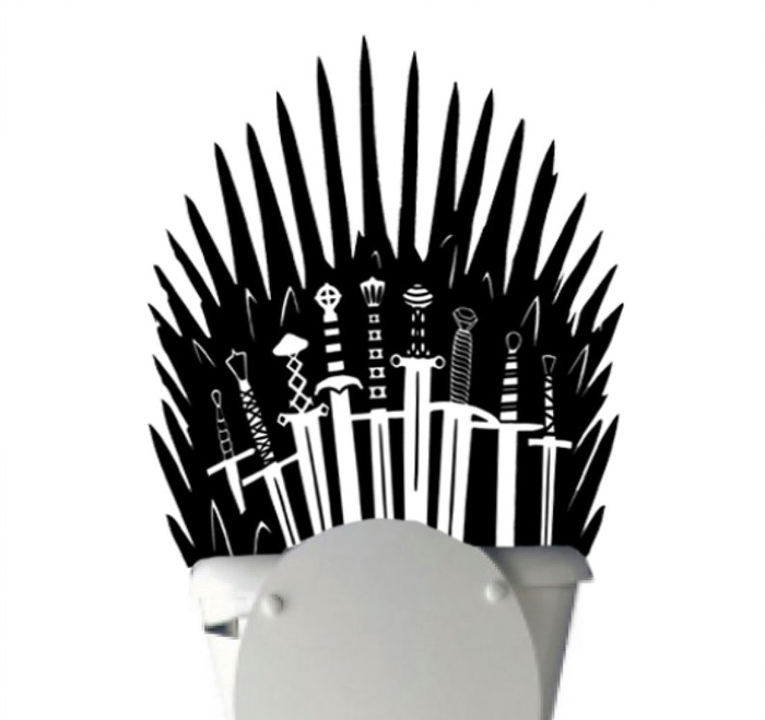 iron throne decal black color