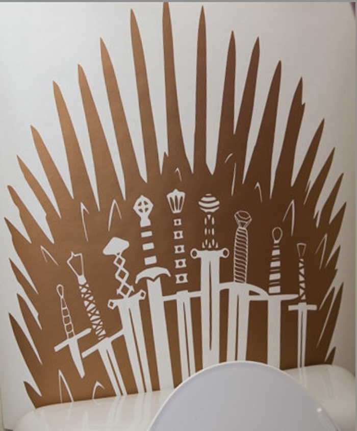 iron throne decal copper metallic