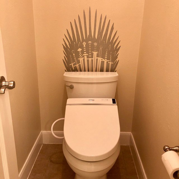 iron throne decal etsy customer upload silver metallic