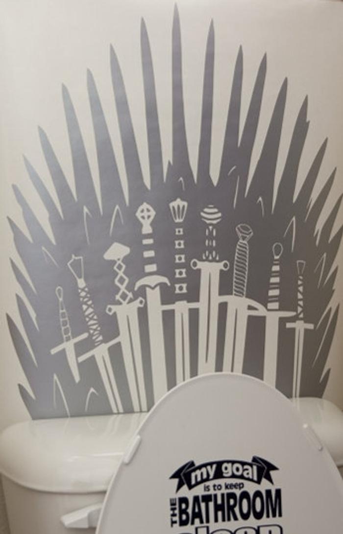 iron throne decal silver metallic