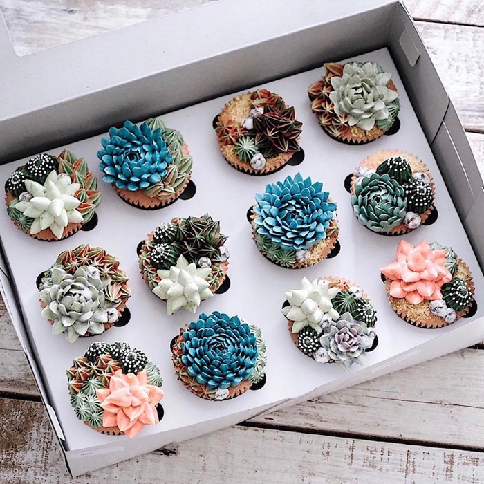 ivenoven succulent cupcakes
