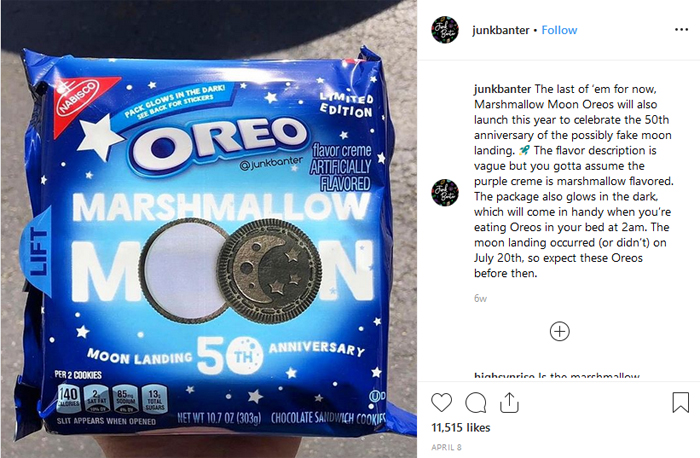 junkbanter instagram marshmallow moon oreo