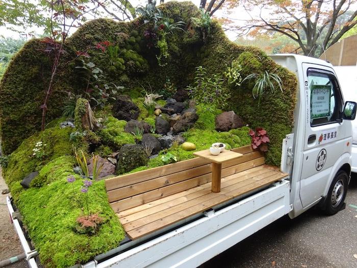 kei truck garden contest fukuharu landscaping