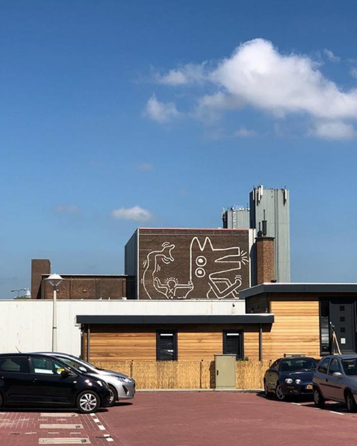 keith haring monumental mural amsterdam ccartlover
