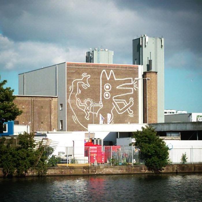 keith haring monumental mural amsterdam jurvanruiten