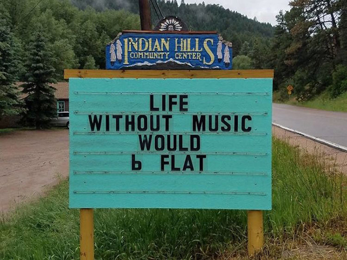 life music puns road signs