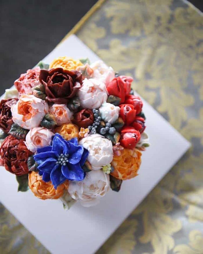 lifelike buttercream flowers atelier soo cakes