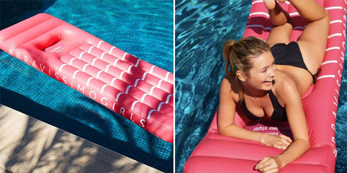 lilo pool float with cup holder
