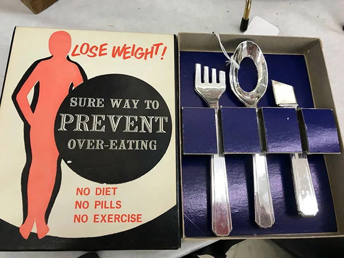 lose weight set weird second-hand items